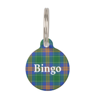 Happy Pet Irish Clan MacAuliffe Tartan Plaid Pet Name Tag