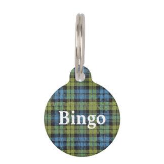 Happy Pet Scottish Campbell Tartan Plaid Pet ID Tag
