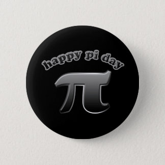 Happy Pi Day Pi Symbol for Math Nerds on March 14 6 Cm Round Badge