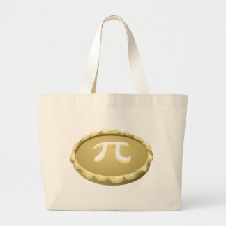 happy pi day pie large tote bag