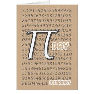 Happy Pi Day Wedding Congraulations 3.14 March 14t Card