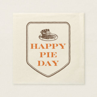 Happy Pie Day Thanksgiving Day Paper Napkins