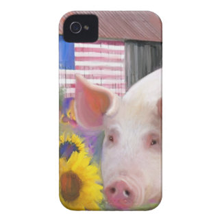 Happy Pig From West Marin iPhone 4 Case