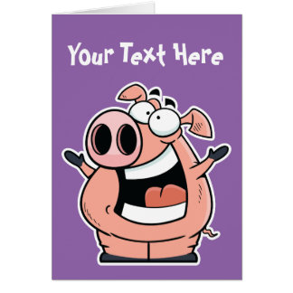 Happy Pig Greeting Card