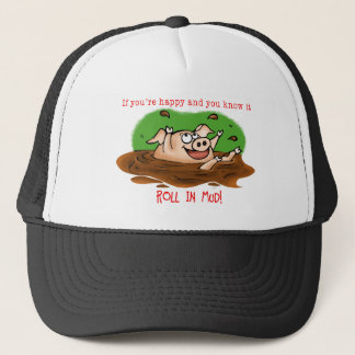 Happy Pig Trucker Hat