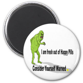 Happy Pills 6 Cm Round Magnet