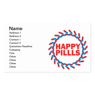 Happy Pills Pack Of Standard Business Cards
