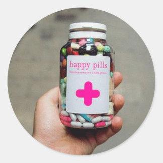 Happy Pills Round Sticker
