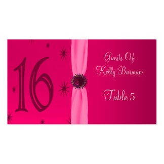 Happy Pink Birthday 16 Place Pack Of Standard Business Cards