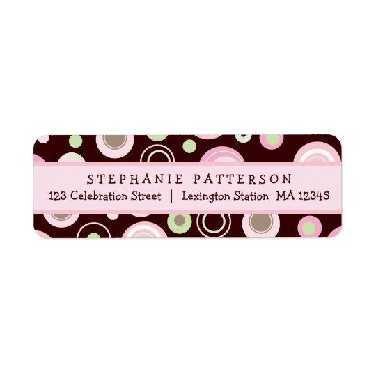 Happy Pink Dots Girly Return Address Label