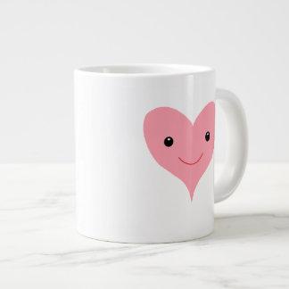 Happy Pink Heart Jumbo Mug