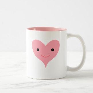 Happy Pink Heart Two-Tone Mug