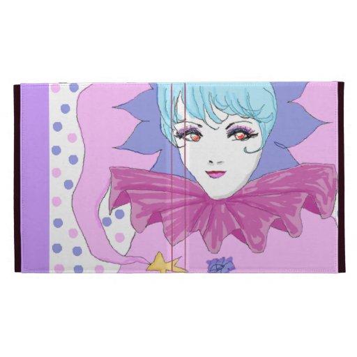 Happy Pink Joker iPad Folio Cases