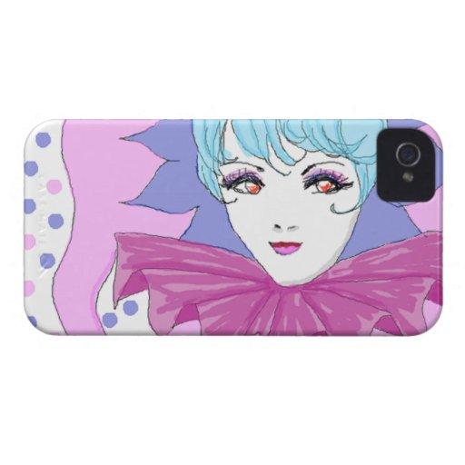 Happy Pink Joker iPhone 4 Cover