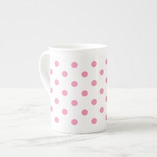 Happy Pink Polka Dot Tea Cup