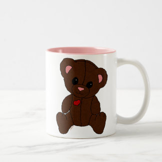 Happy Pink Teddy Bear Coffee Mug