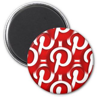 "Happy Pinning ""Pinterest"" Icon Magnet"