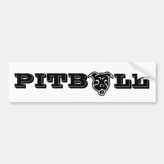 Happy Pitbull Logo Bumper Sticker