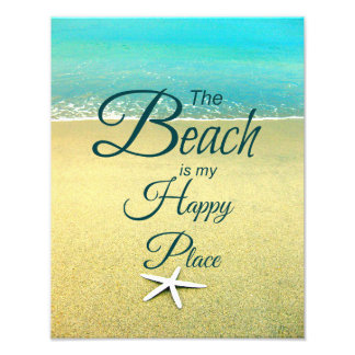 Happy Place Beach Quote Photo