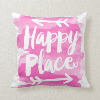 Happy Place - Pink Pillow