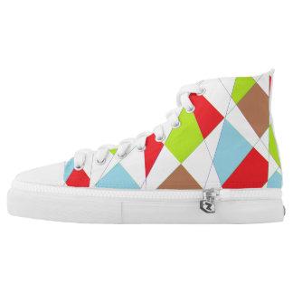 Happy plaid-ish Feet Printed Shoes