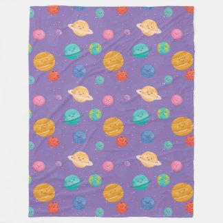 Happy Planets Fleece Blanket