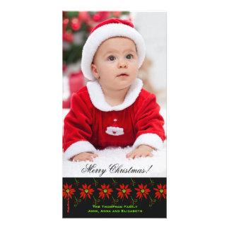 Happy Poinsettias Photo Card