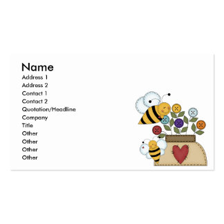 happy pollination business card templates