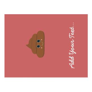 Happy poo postcard