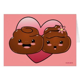 Happy Poo Valentines Greeting Card