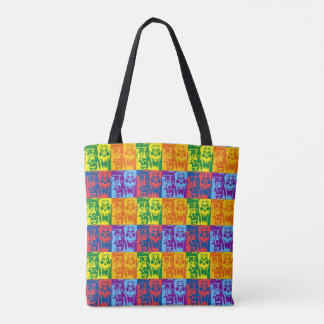 Happy Pop Monsters Tote