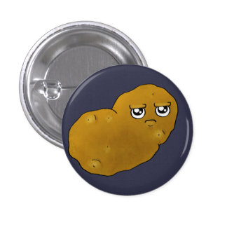 Happy Potato 3 Cm Round Badge