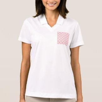 Happy ,powder pink,polka dot,white,girly,country, polo shirts