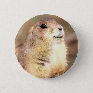Happy Prairie dog button