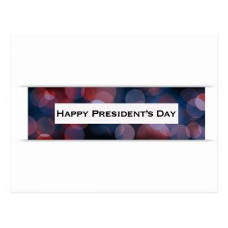 Happy President's Day bokeh Postcard