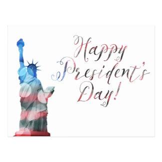Happy President's Day liberty bokeh Postcard