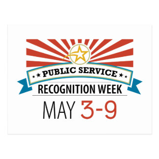 Happy Public Service Recognition Week Post Card