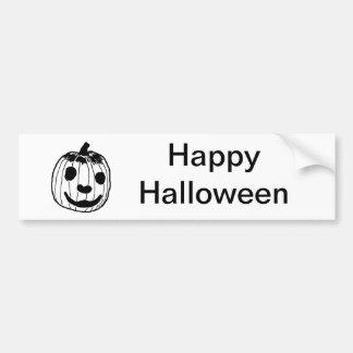 Happy Pumpkin Car Bumper Sticker