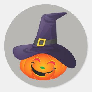 Happy Pumpkin Classic Round Sticker