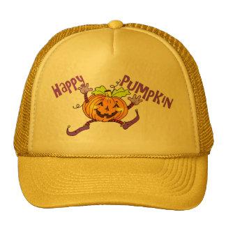 Happy Pumpkin Halloween Trucker Hat