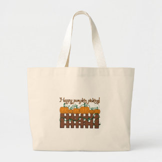 Happy Pumpkin Picking Canvas Bags