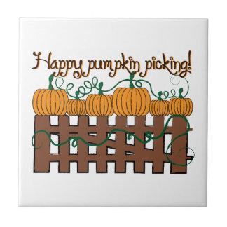 Happy Pumpkin Picking Tile