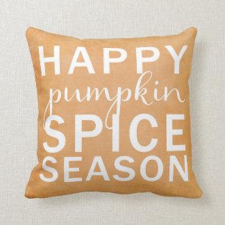 Happy pumpkin spice season- orange cushion