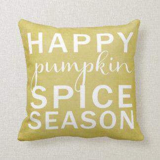 Happy pumpkin spice season- yellow cushion