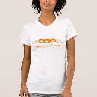 Happy Pumpkin Swirls Halloween Women's Tee
