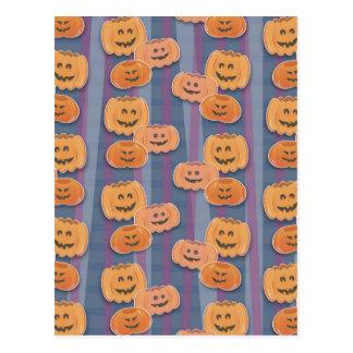 happy pumpkins postcard