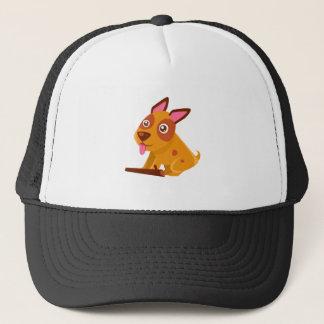 Happy Puppy Brought A Stick Trucker Hat