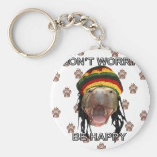 Happy Puppy Key Ring