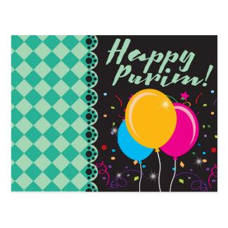 Happy Purim (פּוּרִים) Postcard