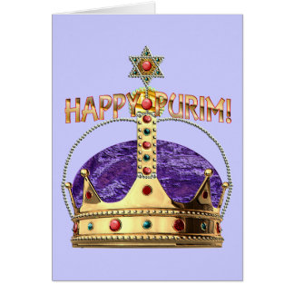 Happy Purim Blank Card
